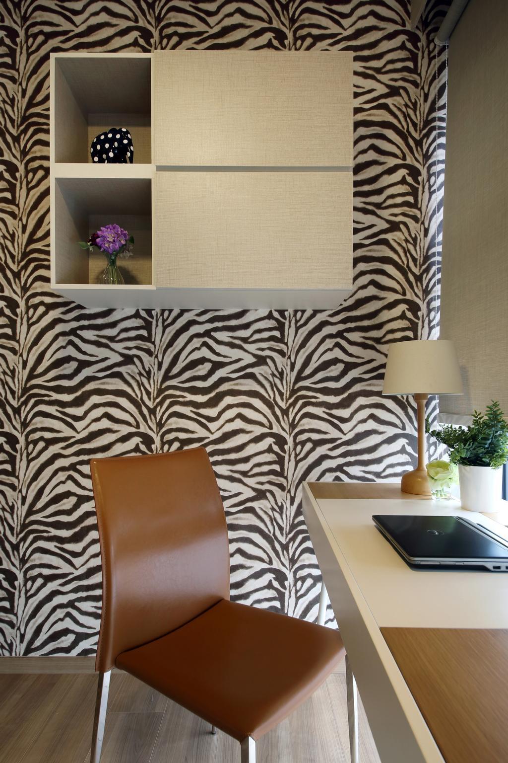 Contemporary, Condo, Bedroom, Blossom Residences, Interior Designer, Vegas Interior Design, Pot