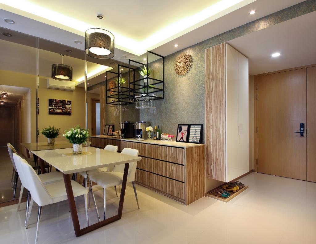 Contemporary, Condo, Dining Room, Blossom Residences, Interior Designer, Vegas Interior Design, Dining Table, Furniture, Table, Indoors, Interior Design, Kitchen, Room