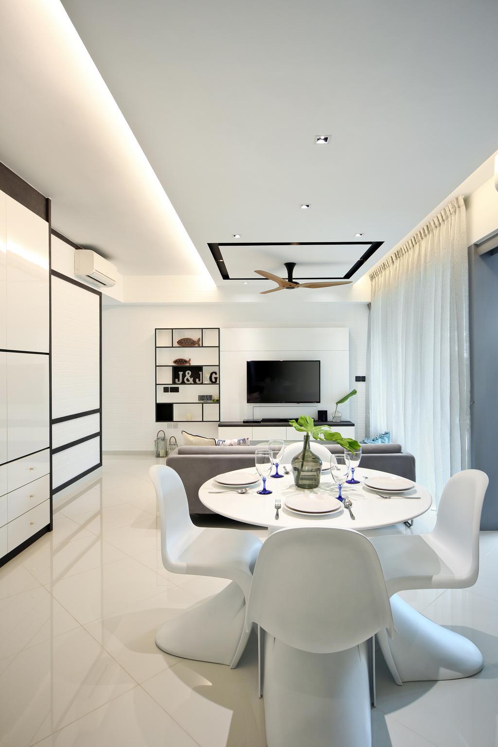 Modern, Condo, Dining Room, Eight Courtyards, Interior Designer, Vegas Interior Design, Indoors, Room, Sink, Toilet, Interior Design