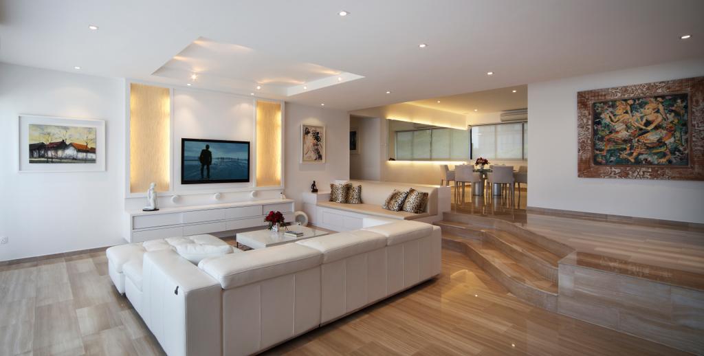 Contemporary, Condo, Living Room, Equatorial Apartment, Interior Designer, Vegas Interior Design, Indoors, Interior Design, Flooring, Bed, Furniture