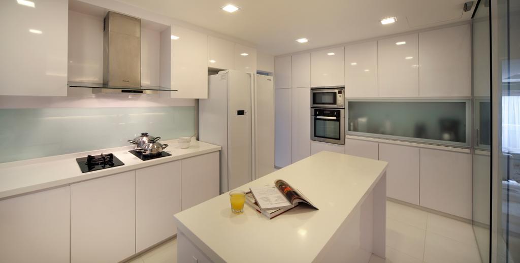 Contemporary, Condo, Kitchen, Equatorial Apartment, Interior Designer, Vegas Interior Design, Indoors, Interior Design, Room, Appliance, Electrical Device, Oven