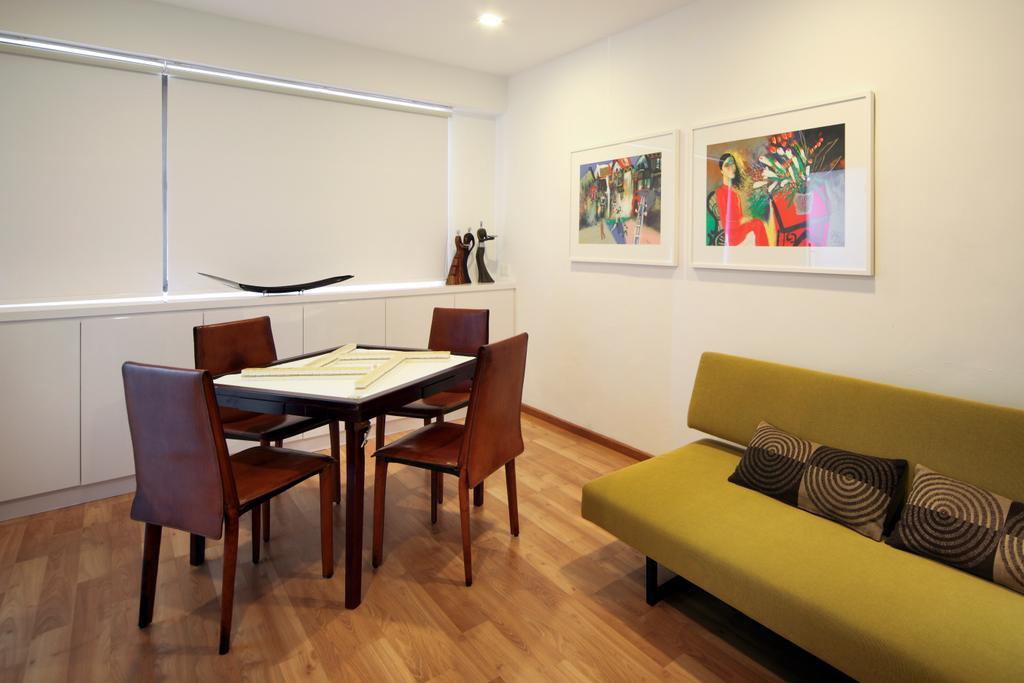 Contemporary, Condo, Bedroom, Equatorial Apartment, Interior Designer, Vegas Interior Design, Couch, Furniture, Chair, Dining Table, Table, Art, Art Gallery, Indoors, Room