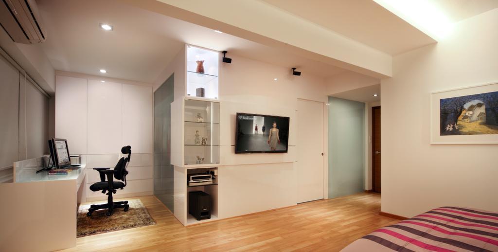 Contemporary, Condo, Bedroom, Equatorial Apartment, Interior Designer, Vegas Interior Design, Flooring, Appliance, Electrical Device, Oven, Indoors, Interior Design