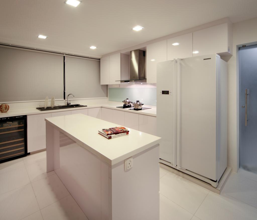 Contemporary, Condo, Kitchen, Equatorial Apartment, Interior Designer, Vegas Interior Design, Appliance, Electrical Device, Oven, Indoors, Interior Design, Room