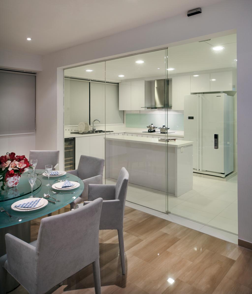 Contemporary, Condo, Dining Room, Equatorial Apartment, Interior Designer, Vegas Interior Design, Chair, Furniture, Couch, Indoors, Interior Design, Kitchen, Room, Toilet