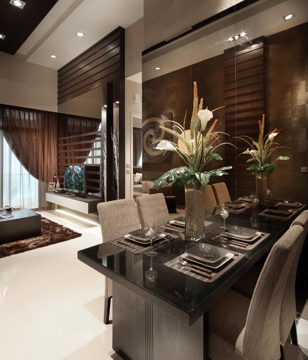 Eclectic, Condo, Dining Room, The Serennia, Interior Designer, Vegas Interior Design, Indoors, Interior Design, Room, Couch, Furniture, Flora, Jar, Plant, Potted Plant, Pottery, Vase