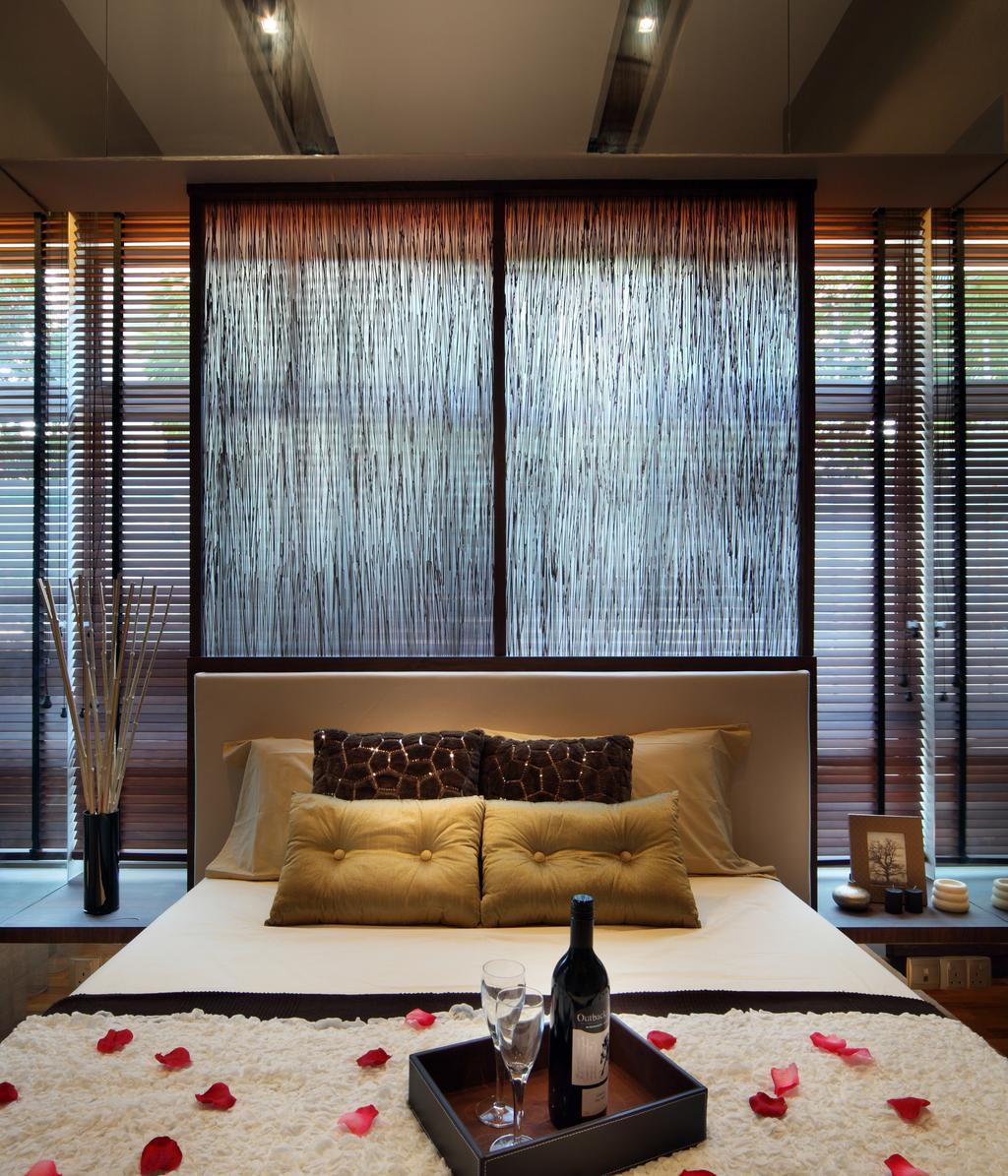 Eclectic, Condo, Bedroom, The Serennia, Interior Designer, Vegas Interior Design, Curtain, Home Decor, Window, Window Shade, Couch, Furniture