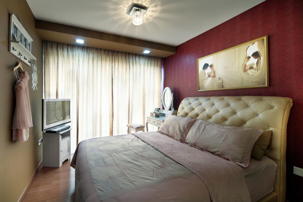 Vintage, HDB, Bedroom, Bishan Street 24 (Block 273A), Interior Designer, Vegas Interior Design, Couch, Furniture, Indoors, Room, Bed, Interior Design