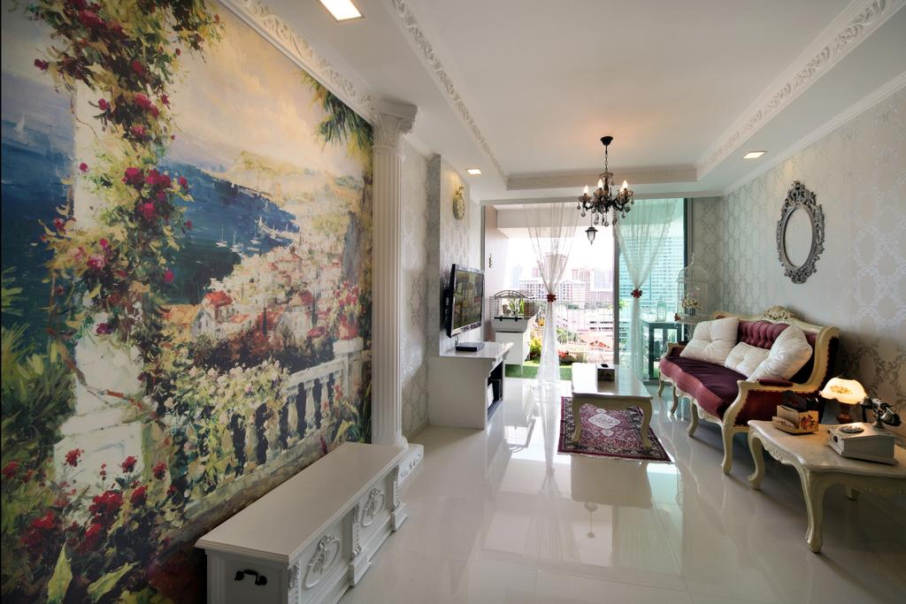Vintage, HDB, Living Room, Bishan Street 24 (Block 273A), Interior Designer, Vegas Interior Design, Art, Painting, Dining Room, Indoors, Interior Design, Room