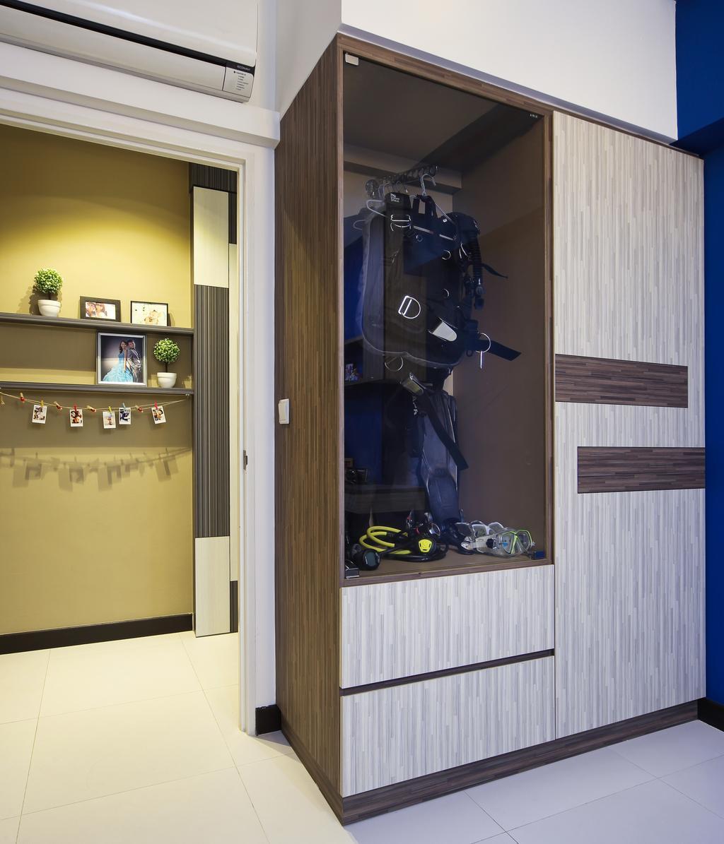 Scandinavian, HDB, Bedroom, Boon Lay Drive (Block 196B), Interior Designer, Vegas Interior Design, Robot