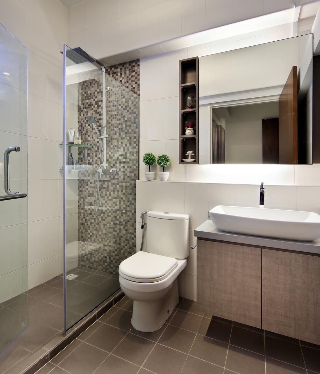 Scandinavian, HDB, Bathroom, Boon Lay Drive (Block 196B), Interior Designer, Vegas Interior Design, Toilet, Indoors, Interior Design, Room