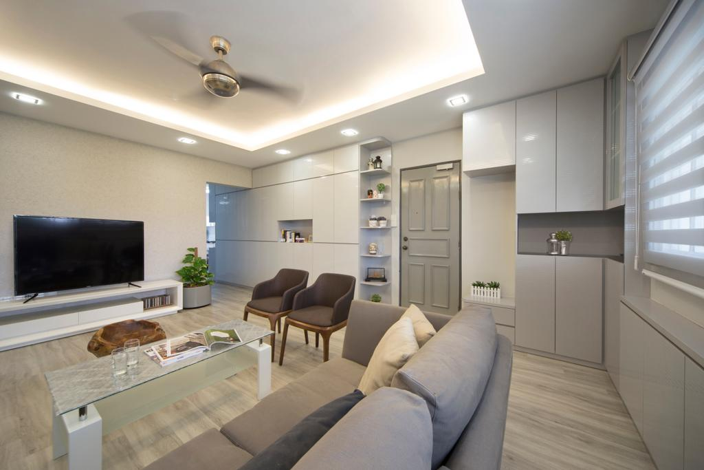 Modern, HDB, Living Room, Clementi Street (Block 118), Interior Designer, Vegas Interior Design, Contemporary, Couch, Furniture, Indoors, Interior Design
