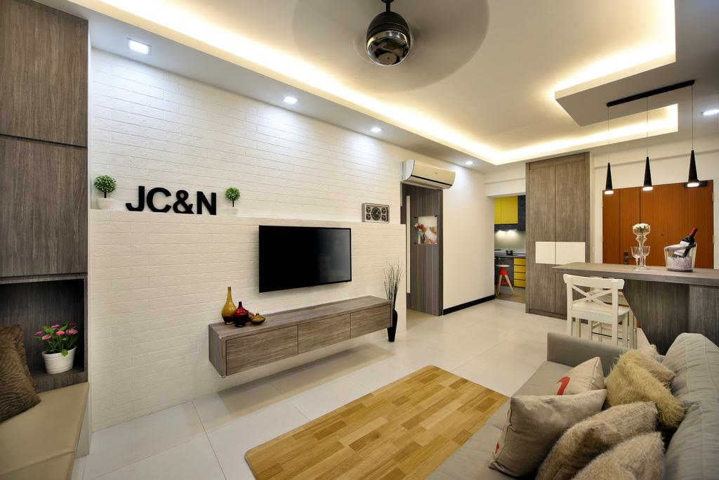 Scandinavian, HDB, Living Room, Boon Lay Drive (Block 196B), Interior Designer, Vegas Interior Design, Indoors, Interior Design