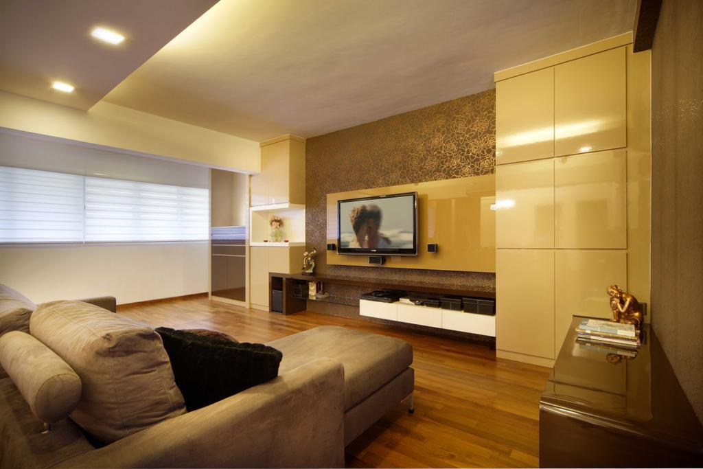 Modern, HDB, Living Room, Hougang Avenue 8 (Block 654), Interior Designer, Vegas Interior Design, Contemporary, Couch, Furniture, Indoors, Interior Design