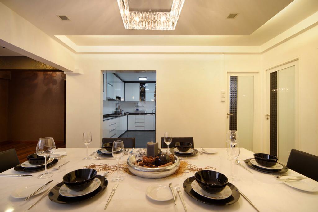 Modern, HDB, Dining Room, Hougang Avenue 8 (Block 654), Interior Designer, Vegas Interior Design, Contemporary, Indoors, Interior Design, Kitchen, Room, Dining Table, Furniture, Table