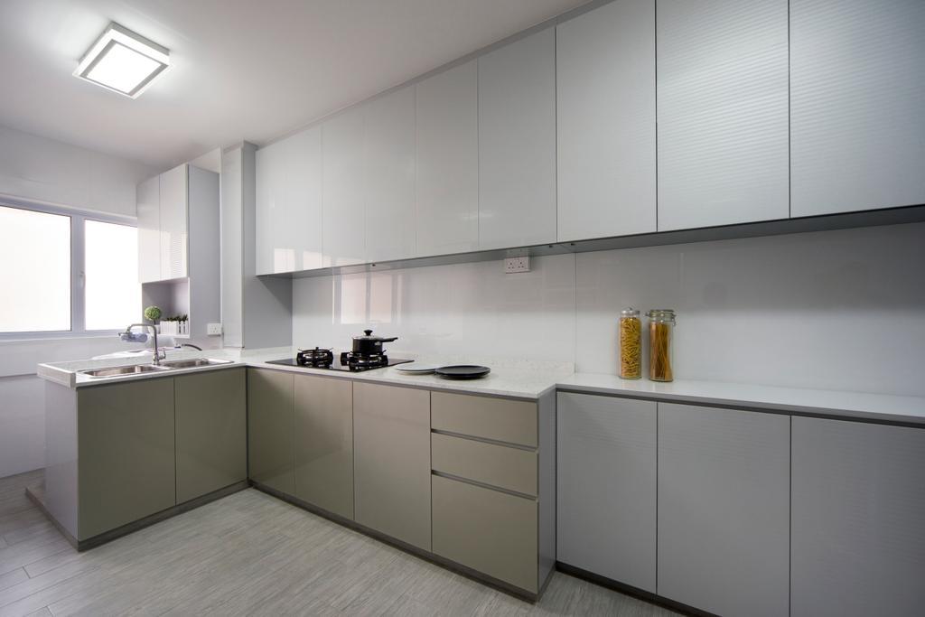 Modern, HDB, Kitchen, Clementi Street (Block 118), Interior Designer, Vegas Interior Design, Contemporary, Indoors, Interior Design, Room, Furniture, Sideboard