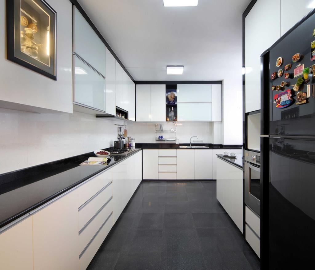 Modern, HDB, Kitchen, Hougang Avenue 8 (Block 654), Interior Designer, Vegas Interior Design, Contemporary, Indoors, Interior Design, Room