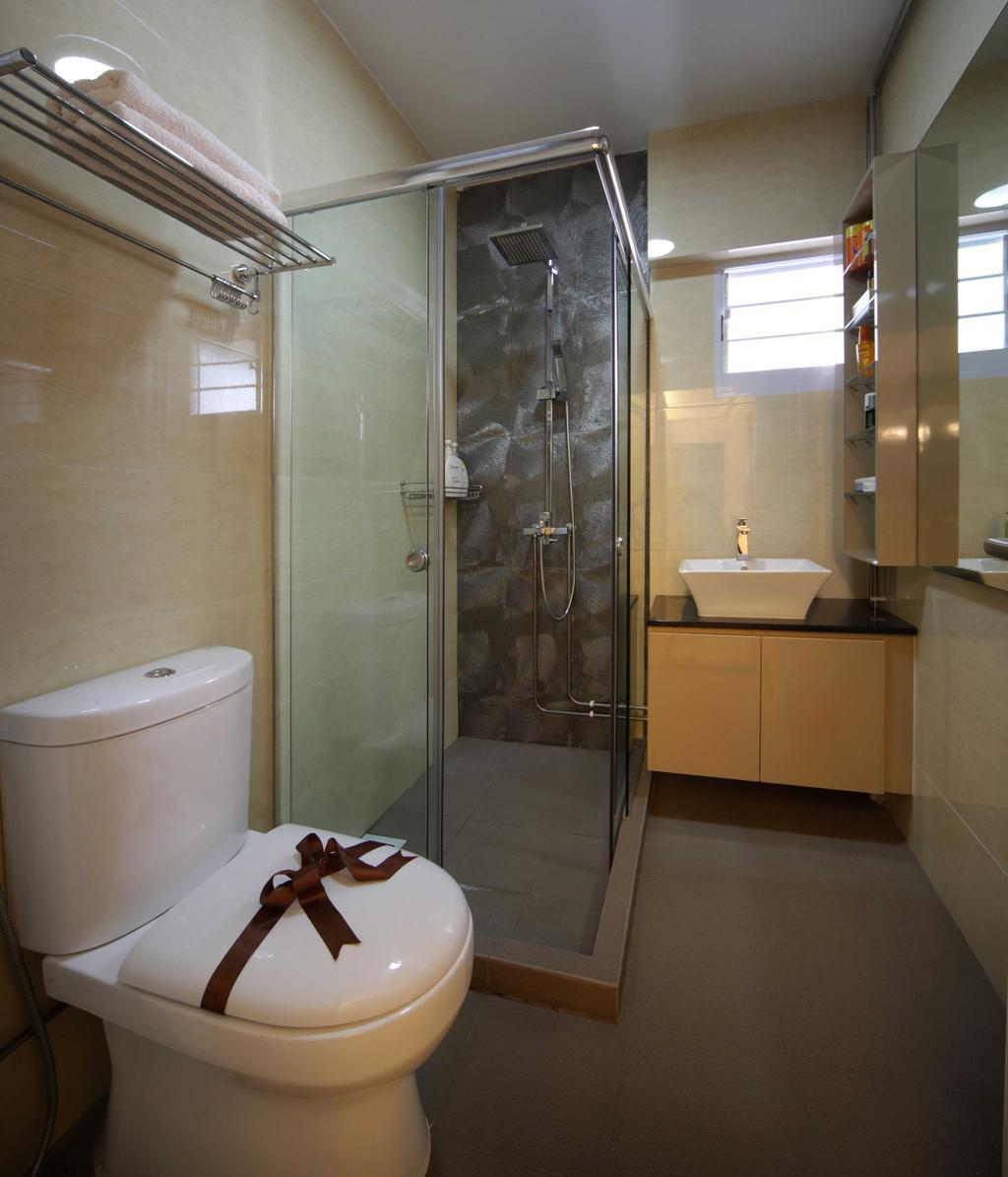 Modern, HDB, Bathroom, Hougang Avenue 8 (Block 654), Interior Designer, Vegas Interior Design, Contemporary, Toilet