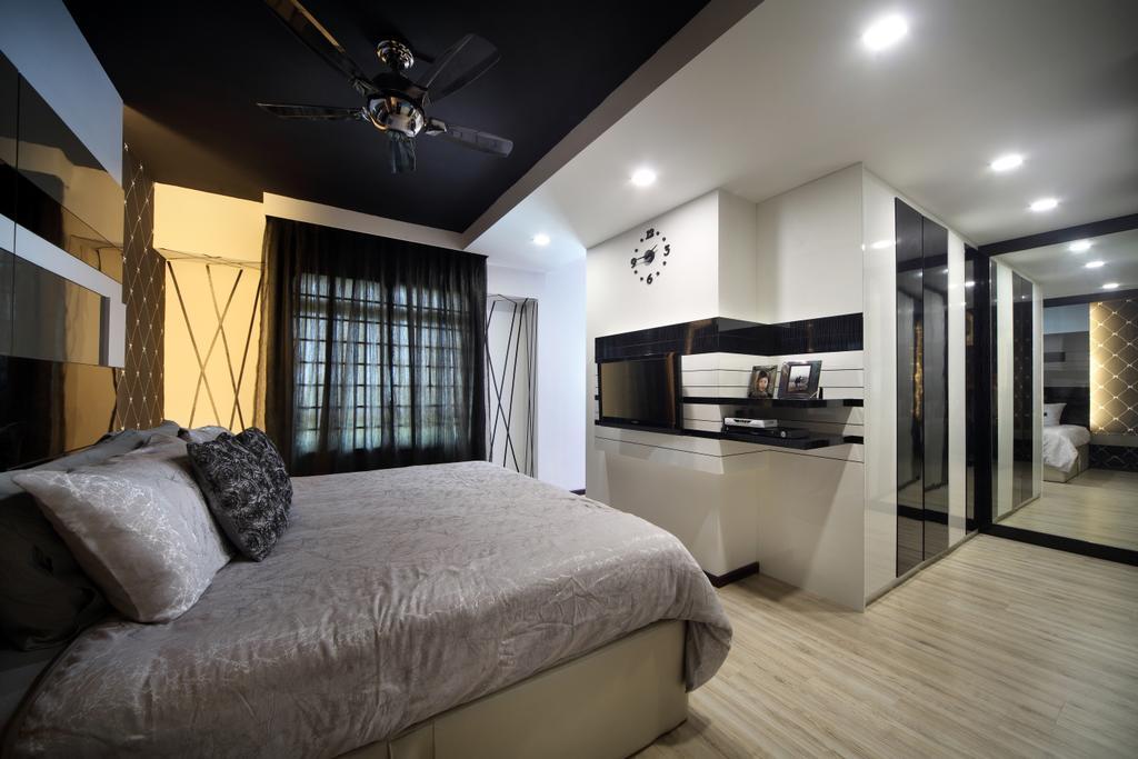 Modern, HDB, Bedroom, Rivervale Drive (Block 120B), Interior Designer, Vegas Interior Design, Contemporary