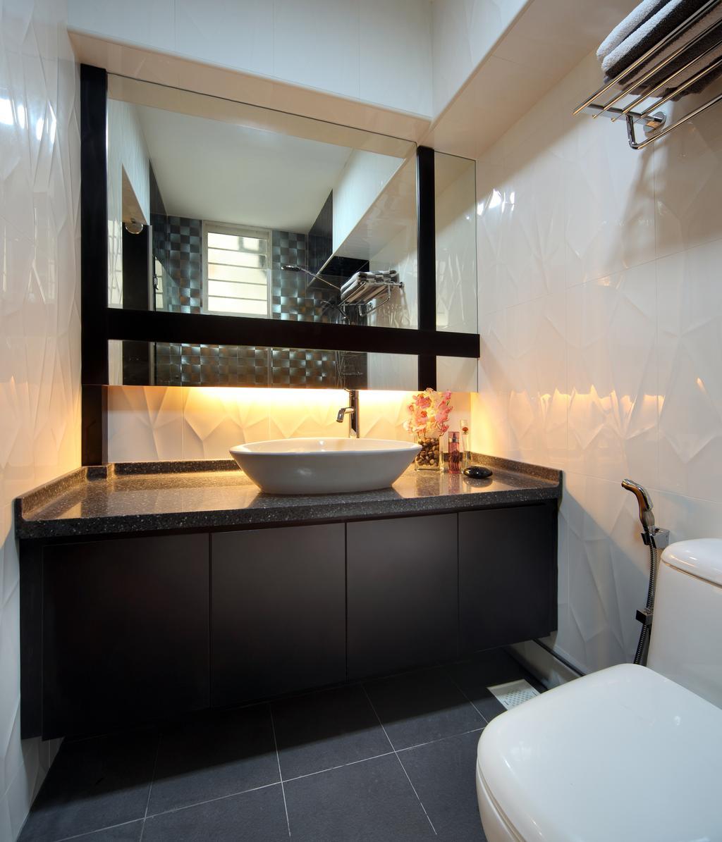 Modern, HDB, Bathroom, Rivervale Drive (Block 120B), Interior Designer, Vegas Interior Design, Contemporary, Indoors, Interior Design