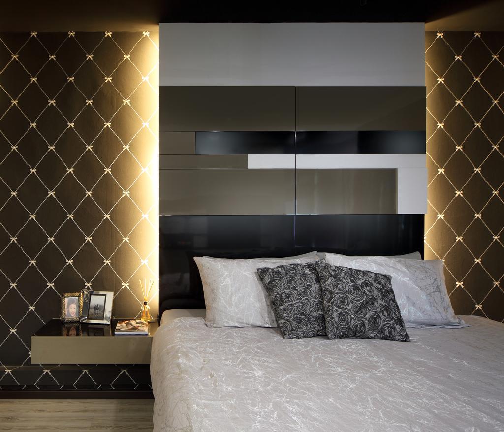 Modern, HDB, Bedroom, Rivervale Drive (Block 120B), Interior Designer, Vegas Interior Design, Contemporary, Indoors, Interior Design