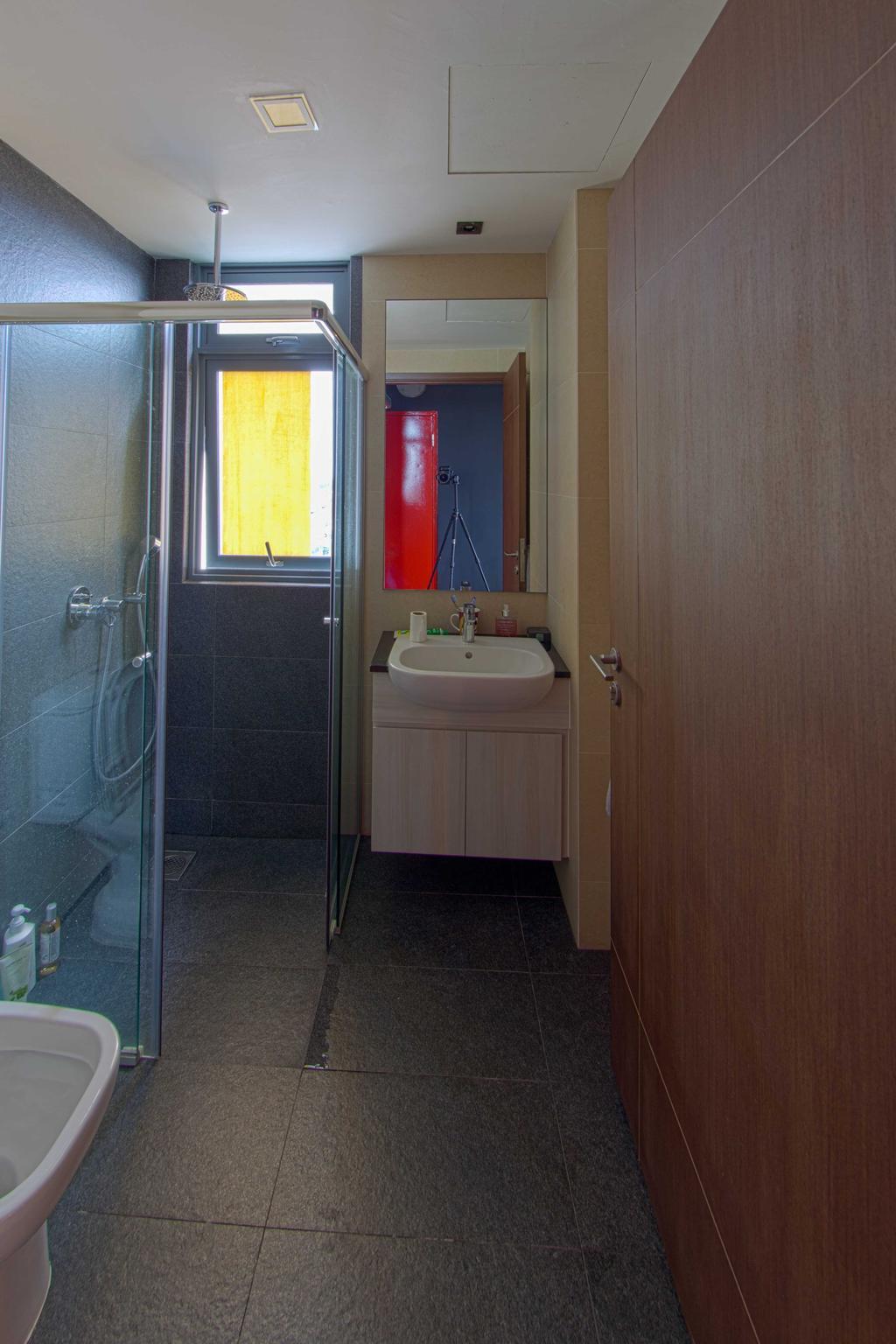 Industrial, Condo, Bathroom, Lengkong Court, Interior Designer, Juz Interior, Shower Door, Indoors, Interior Design, Room