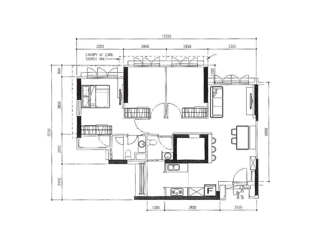Scandinavian, HDB, Tiong Bahru View, Interior Designer, Aart Boxx Interior, Floorplan, Diagram, Plan