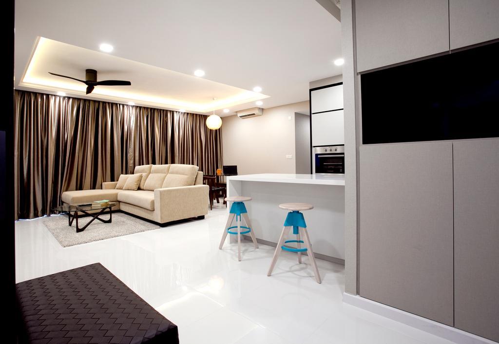Modern, Condo, Living Room, RiverParc Residence (Punggol - Block 92), Interior Designer, Voila