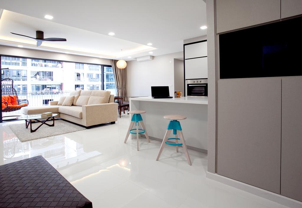 Modern, Condo, Living Room, RiverParc Residence (Punggol - Block 92), Interior Designer, Voila, Indoors, Room