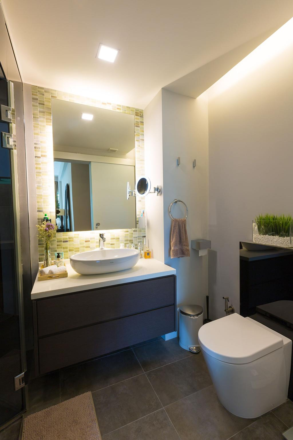Modern, Condo, Bathroom, Hindhede Walk, Interior Designer, Faith Interior Design, Contemporary