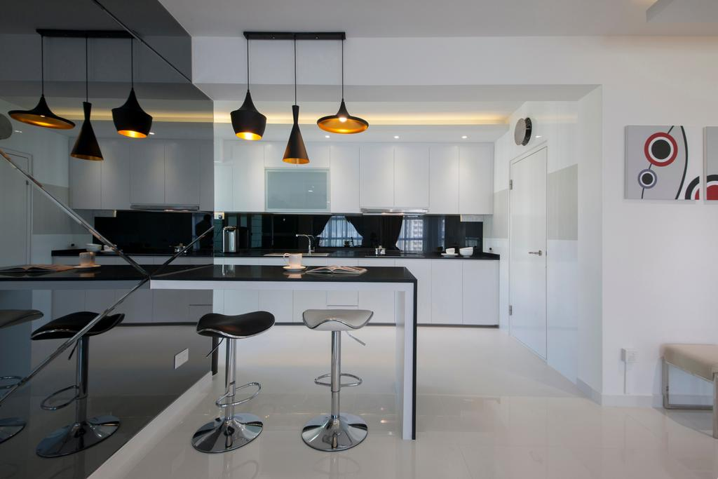 Modern, HDB, Dining Room, Compassvale Drive (Block 216A), Interior Designer, Colourbox Interior, Contemporary, Light Fixture, Indoors, Interior Design, Room, Lighting