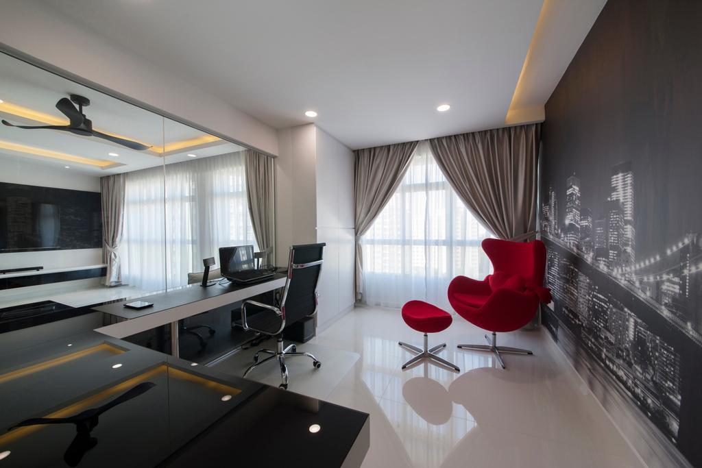 Modern, HDB, Study, Compassvale Drive (Block 216A), Interior Designer, Colourbox Interior, Contemporary, Chair, Furniture, Indoors, Interior Design