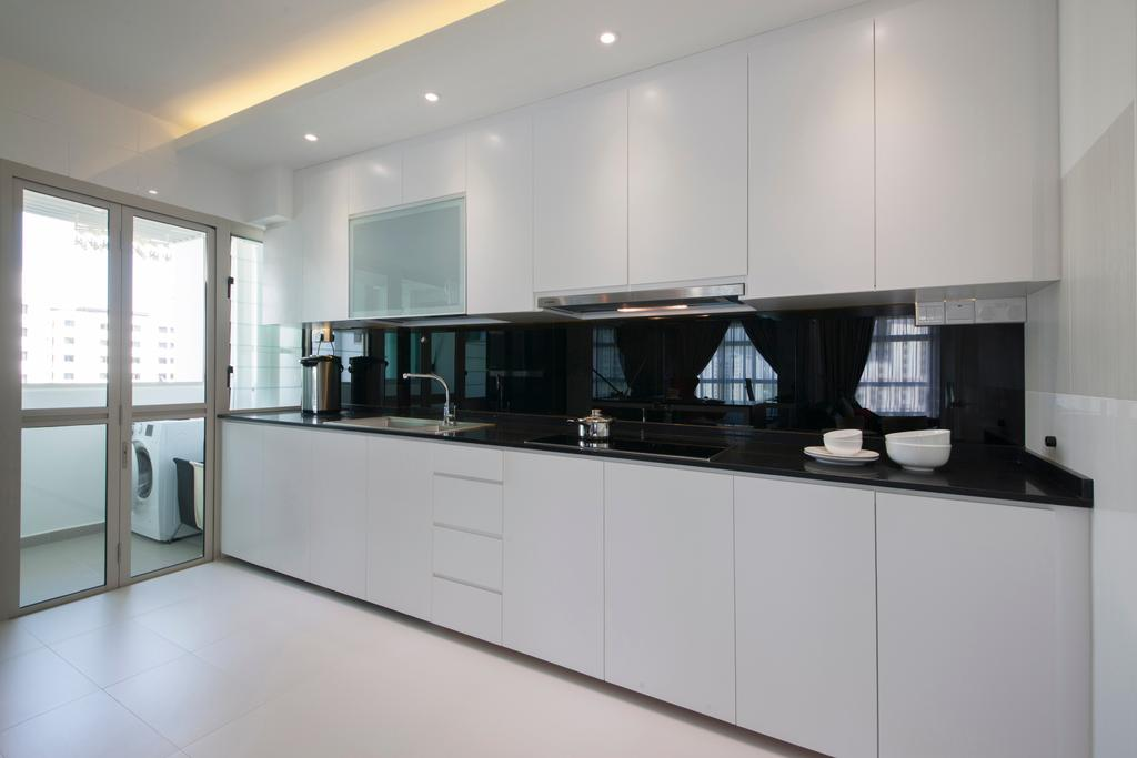 Modern, HDB, Kitchen, Compassvale Drive (Block 216A), Interior Designer, Colourbox Interior, Contemporary, Furniture, Sideboard, Bathroom, Indoors, Interior Design, Room