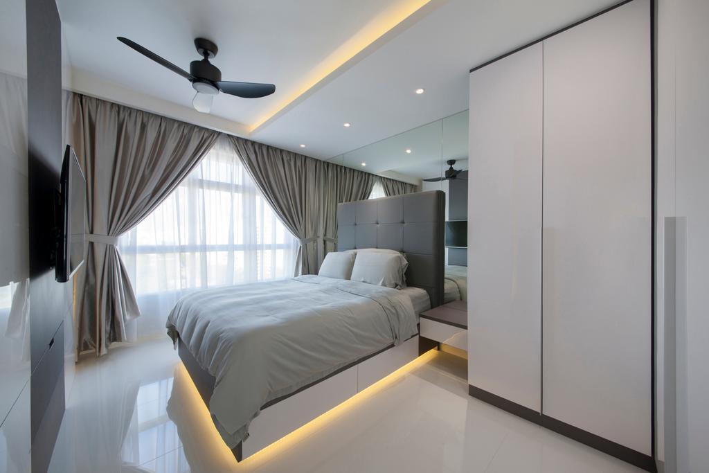 Modern, HDB, Bedroom, Compassvale Drive (Block 216A), Interior Designer, Colourbox Interior, Contemporary