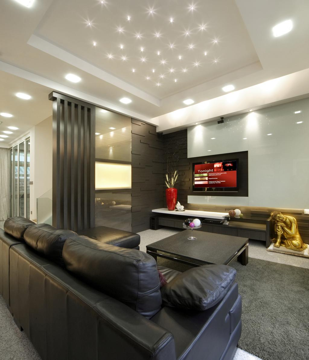Modern, Landed, Living Room, The Shaughnessy, Interior Designer, Vegas Interior Design, Contemporary, Couch, Furniture, Electronics, Entertainment Center, Home Theater