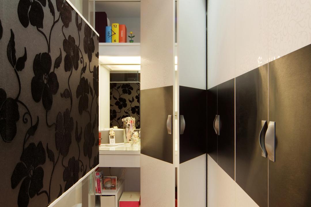 The Shaughnessy, Vegas Interior Design, Modern, Contemporary, Bedroom, Landed, Modern Bedroom, Hidden Door, Vanity Table, Indoors, Interior Design