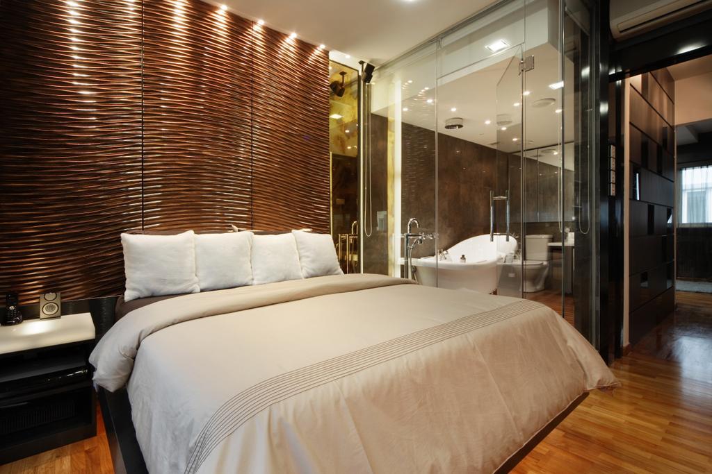 Modern, Landed, Bedroom, The Shaughnessy, Interior Designer, Vegas Interior Design, Contemporary, Bathtub, Tub, Bed, Furniture