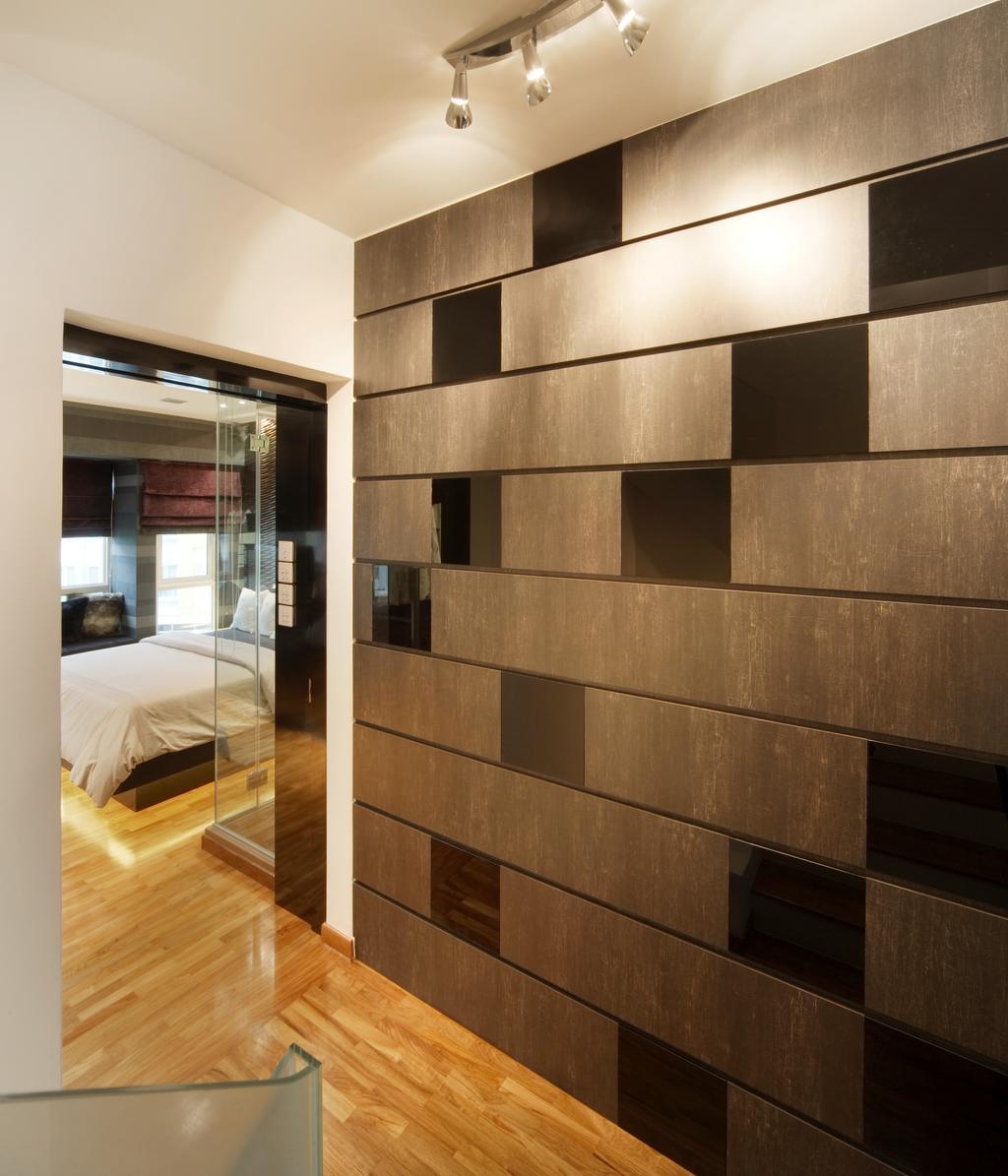 Modern, Landed, The Shaughnessy, Interior Designer, Vegas Interior Design, Contemporary, Corridor, Wall Panel, Track Spotlight, Furniture, Sideboard