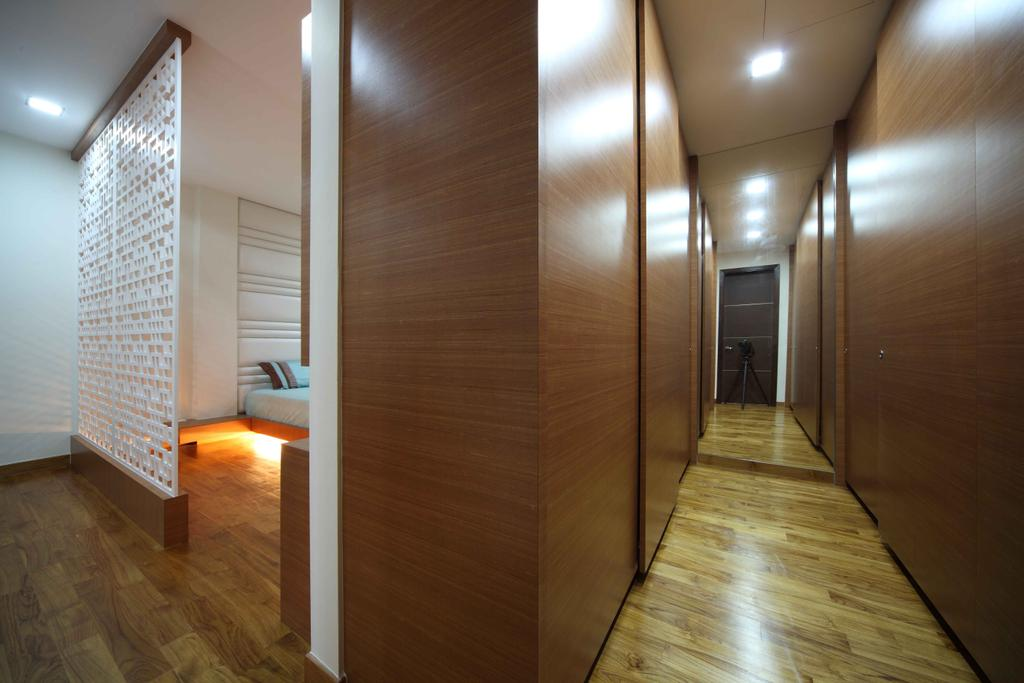 Modern, Landed, Bedroom, Jalan Hussein, Interior Designer, Vegas Interior Design, Contemporary, Built In Wardrobe, Sliding Wardrobe, Pattern Wall Divider, HDB, Building, Housing, Indoors, Loft, Flooring, Floor