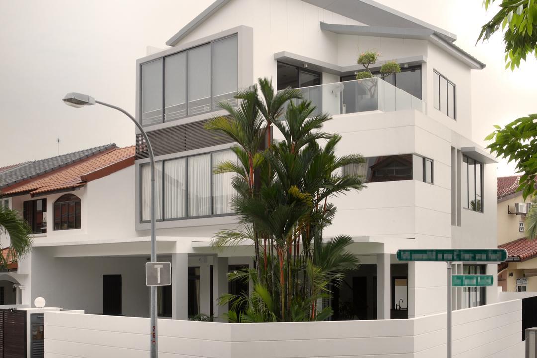 Woo Mon Chew Road, Vegas Interior Design, Contemporary, Landed, Exterior, Porch, Building, Housing, House, Villa, Arecaceae, Flora, Palm Tree, Plant, Tree