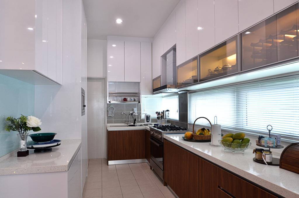 Contemporary, Landed, Kitchen, Clover Garden @ Cyberjaya, Interior Designer, Mega Fusion Design Studio, Modern, Flora, Jar, Plant, Potted Plant, Pottery, Vase, Indoors, Interior Design, Room