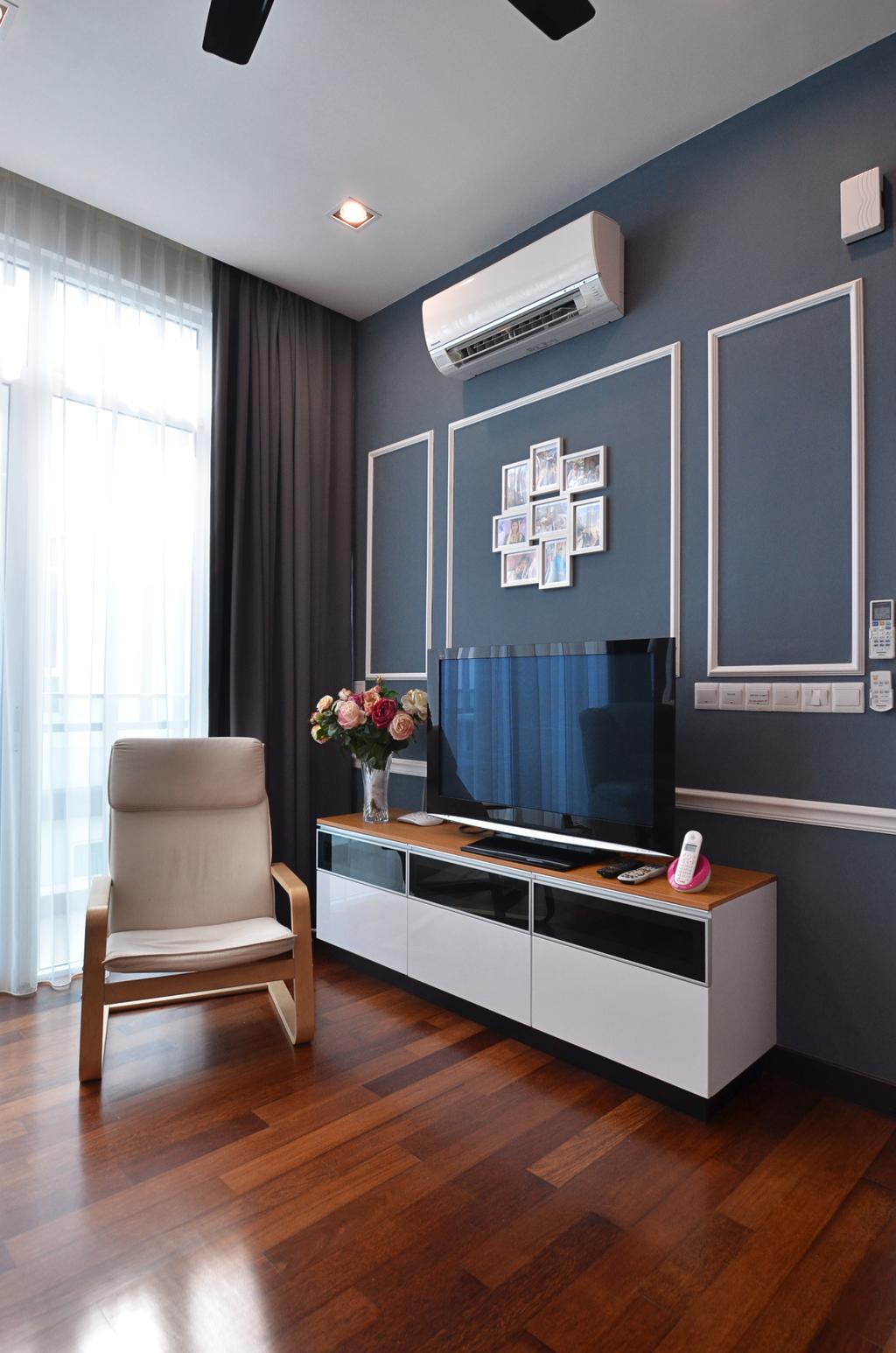Contemporary, Landed, Bedroom, Clover Garden @ Cyberjaya, Interior Designer, Mega Fusion Design Studio, Modern, Chair, Furniture, Blackboard, Sink, Molding, Indoors, Interior Design