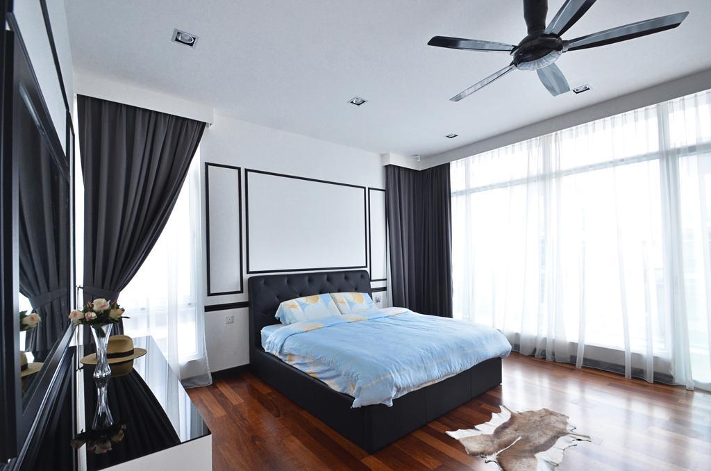 Contemporary, Landed, Bedroom, Clover Garden @ Cyberjaya, Interior Designer, Mega Fusion Design Studio, Modern, Bed, Furniture, Indoors, Interior Design, Room
