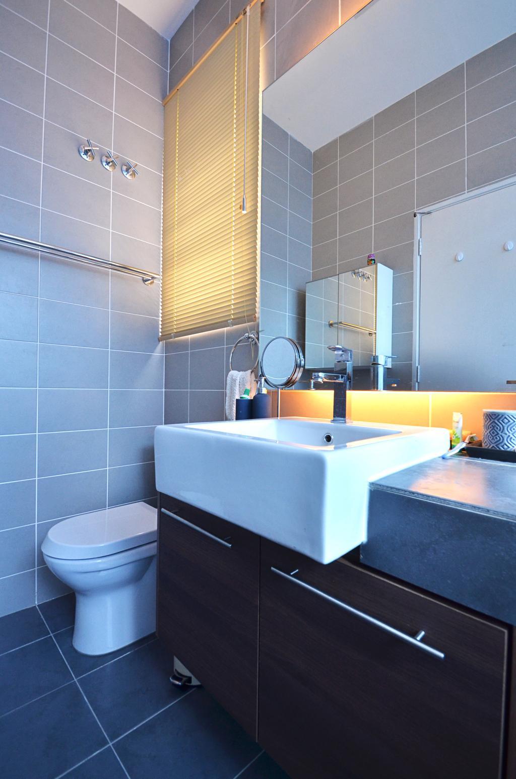 Contemporary, Landed, Kitchen, Clover Garden @ Cyberjaya, Interior Designer, Mega Fusion Design Studio, Modern, Bathroom, Indoors, Interior Design, Room, Sink