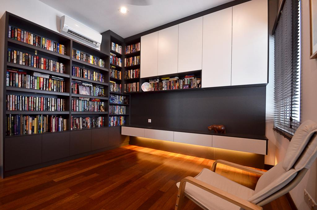 Contemporary, Landed, Study, Clover Garden @ Cyberjaya, Interior Designer, Mega Fusion Design Studio, Modern, Bookcase, Furniture, Indoors, Interior Design