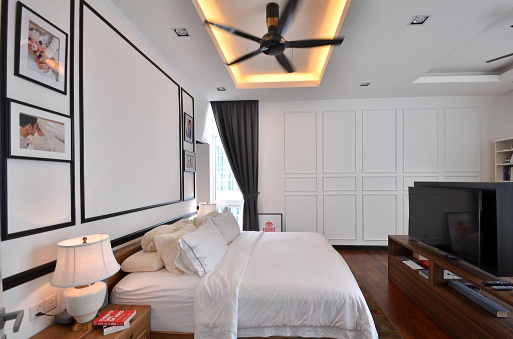 Contemporary, Landed, Bedroom, Clover Garden @ Cyberjaya, Interior Designer, Mega Fusion Design Studio, Modern, Plywood, Wood, Indoors, Interior Design, Room