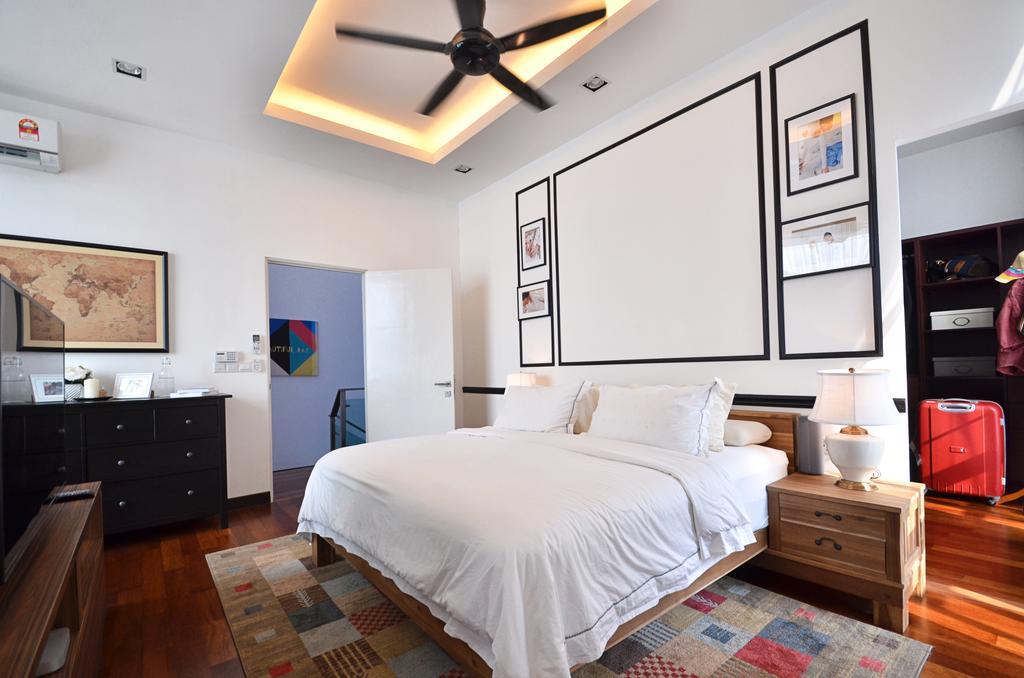 Contemporary, Landed, Bedroom, Clover Garden @ Cyberjaya, Interior Designer, Mega Fusion Design Studio, Modern, Appliance, Electrical Device, Oven, Bed, Furniture, Indoors, Interior Design, Room