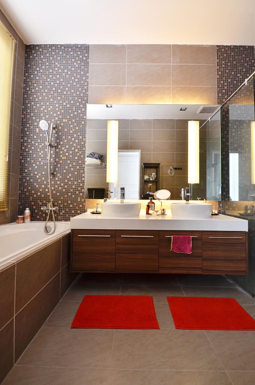 Contemporary, Landed, Kitchen, Clover Garden @ Cyberjaya, Interior Designer, Mega Fusion Design Studio, Modern, Indoors, Interior Design, Sink
