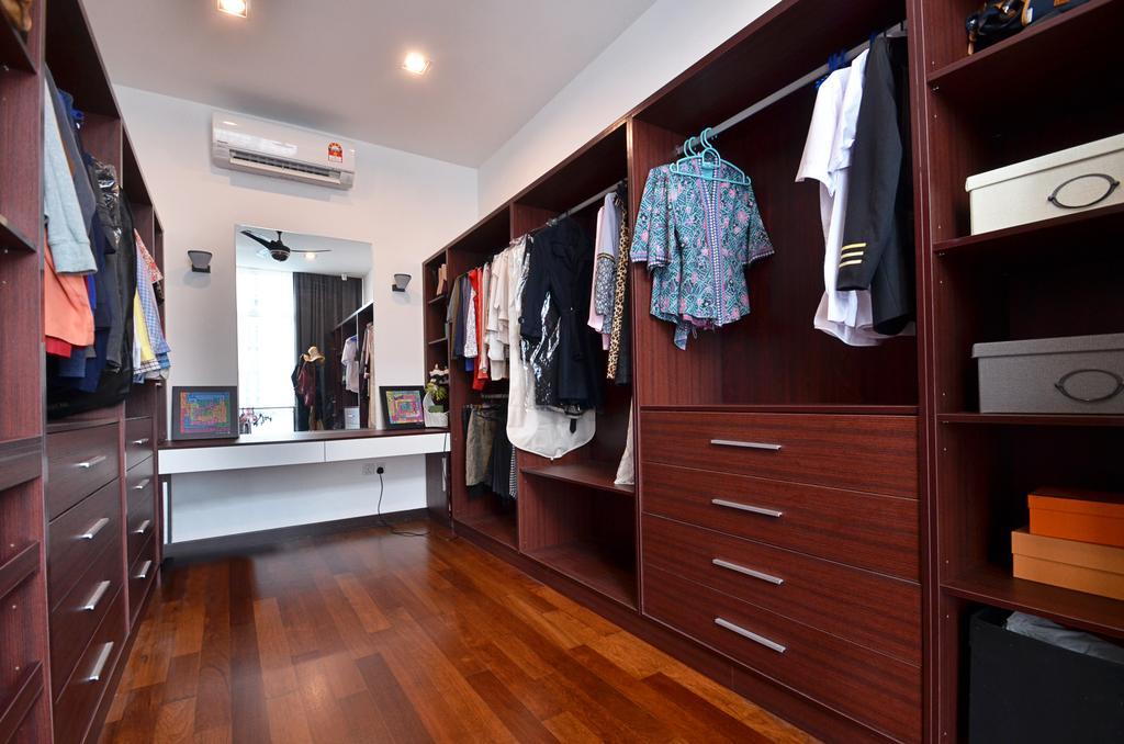 Contemporary, Landed, Bedroom, Clover Garden @ Cyberjaya, Interior Designer, Mega Fusion Design Studio, Modern, Apparel, Clothing