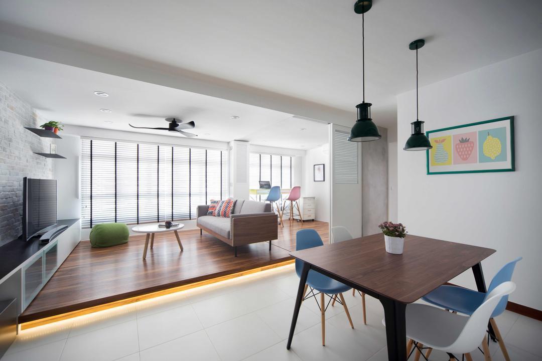 Yishun Avenue 9 (Block 318) Living Room Interior Design 3
